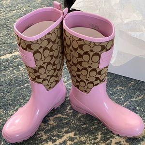 Khaki/Orchid Rubber Coach Boots